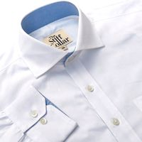 White Twill with Kutch Blue Lining Shirt �'�1299.00