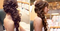 Belle Bridal Hair. SO pretty. I wish my hair curled so that I could do this...I don't really like the O's at the top, though.