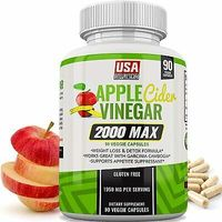 Apple Cider Vinegar Capsules Weight Loss 1,950mg 100% Pure Raw Organic Veggie Ca
