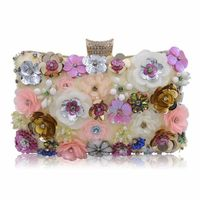 Women Fashion Flower Evening Purse Handbag