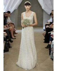 New wedding dresses by Carolina Herrera from the designer's Spring 2013 bridal runway collection.