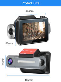 K9 3G WiFi 1080P 3 Inch GPS WDS Remote Monitor Recording Car DVR with Rear Camera