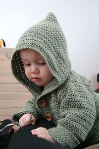 Sweet Baby Hoodie by Bernat Design, free pattern
