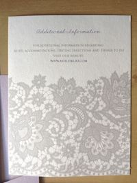 Ashley's Wedding Invitations- Dusty Lavender and Grey