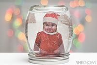 If your kids love snow they can enjoy snow every day by making a snow globe in a jar, complete with their own photo!