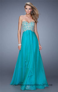 La Femme 20994 Beadedd Embroidered Long Prom Gowns 2015