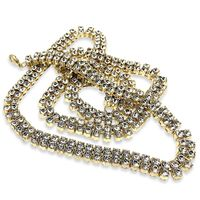 2 Row CZ 18k Gold plated Pharaoh Chain Necklace £29.95