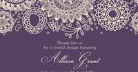 BRIDAL SHOWER Dark Purple Invitation size 4x6 or by PaperPartyCo, $12.95