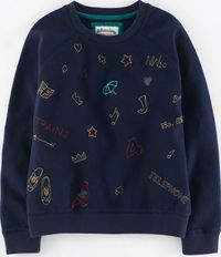Johnnie b Elle Sweatshirt Navy/Embroidered London Johnnie Our favourite Elle sweatshirt comes in cute new designs for Autumn - a delicately sequinned (but easily washable) cat and an embroidered option with lovable London landmarks. http://www.com...