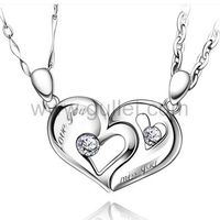Gullei.com Personalized Connecting Half Hearts Necklaces for Boyfriend and Girlfriend