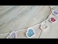 "'�€""' (Crochet) How To - Crochet Heart Bunting - YouTube"