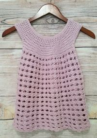 Sunset Shells Crochet Top