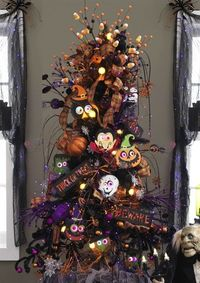 halloween trees, finger puppets and trees.