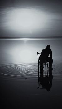 Black and White - Desolation, contemplation, all-in-all a powerful suggestive image.
