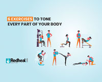 Here is Redheal suggesting the best of workouts to tone all those extra inches on the body. Read the article to know the 6 exercises to tone your body.