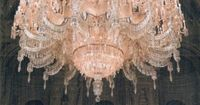 The largest chandelier in the world and it's pink! Gift from Queen Victoria to the Dolmabakce Palace in Istanbul, it weighs 4 tonnes. Diane Griffith
