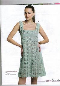 Crochetemoda: Vestido de Crochet ��LCD-MRS�� with diagrams.
