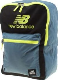 New Balance Black And Blue Booker Backpack Bags Get out exploring with the New Balance Booker Backpack. Crafted of black fabric, teal blue panels feature, whilst pops of neon yellow highlight branded accents for a stamp of authenticity. An internal http:/...