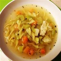 Quick and Easy Chicken Noodle Soup | When you don't have time to make your soup totally from scratch, this is a very easy, very good substitute.""