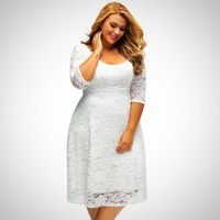 White Lace Dress For Female $26.99