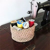 This is an easy crochet basket pattern that can be made with hemp or twine!