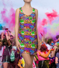 Graffiti Style Racerback Dress Moisture Wicking Strong Elastic Fabric Vibrant Best Quality Pigment Inks Sizes XS - 2XL $21.99 https://www.etsy.com/shop/LAFabriKDesigns?ref=ss profile