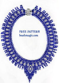 Free pattern for beaded necklace Alicante