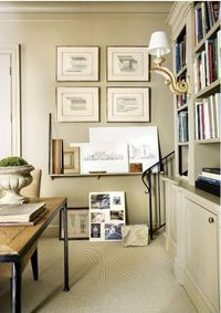 architect Stan Dixon's office from Atlanta Homes & Lifestyles **paint millwork & walls same