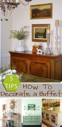 5 tips how to decorate a buffet | remodelaholic.com #decorating #buffettable