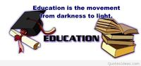 Education picture with a quote