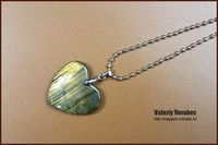 Labradorite necklace. Heart of stone. Labradorite heart. Necklace made of natural stones. Gift For Her. $25.00