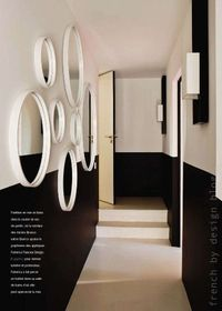 Dramatic Two-Tone Painted Hallway
