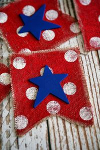 Ready to decorate for 4th of July? We have this fun Red, White and Blue Fourth of July Banner that you can whip up in no time! There's never any cute 4th of Jul