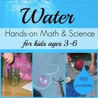 Water Math & Science for kids Ages 3-6 (with printables!) - the measured mom