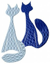 TWO CATS -FREE EMBROIDERY DESIGN