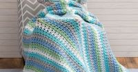 Cuddle Me Blanket Free Crochet Pattern from Red Heart Yarns