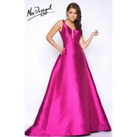Magenta Mac Duggal 80588M - Ball Gowns Long Pockets Simple Dress - Customize Your Prom Dress