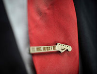 SEX DRUGS and ROCK'Roll Tie Clip - Maple wood tie bar $22.00