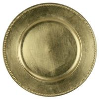 Charger Plate Plastic - Gold