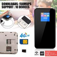 150Mbps 4G Wifi Portable Wireless Router Support SIM And TF Card