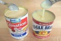 Oh no! Should I really know how to make Eagle Brand milk from SCRATCH?? ....... YES. 3/4 cup powdered milk 3/4 cup sugar 1/2 cup hot water Blend until smooth. This recipe equals one can of store bought condensed milk. - Click image to find more Food &...