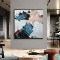 Framed painting Modern abstract paintings on canvas original art wall pictures wall decor blue art cuadros abstracto $169.00