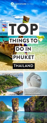 Looking for what to do in Phuket? We've put together a list of the best things to see and do! From renting motorbikes, going on island hopping trips to...