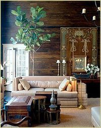Love this rustic elegant room by McAlpine Booth & Ferrier