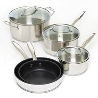 8 Pc. Stainless Steel Cookware Set $199.95