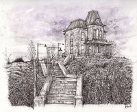 "Bates Motel, 8.5x11"" High quality art print by Alex Dakos $15.00"