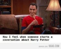 I kinda do have a Sheldon Cooper reaction. I'd like to think that my smile is not so creepy though. o-o