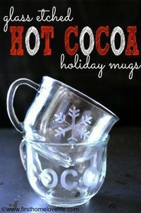 Hi friends! Today I wanted to share with you this quick and easy gift idea that you can make for a teeny bit of money but looks like a million bucks! Glass etch