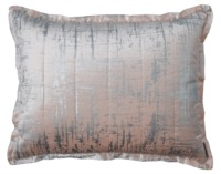 Moderne Blush and Silver Standard Pillow by Lili Alessandra $213.00