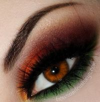"""Sugar Pill """"Flamepoint"""" orange and """"Midori"""" green, Sugar Pill Loose Eyeshadow """"Goldilux"""" gold, Makeup Geek Eyeshadow """"Razzleberry"""" orange red and """"Burlesque"""" mauve and """"Pixie Dust"""" yellow"""